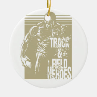 discus hero ceramic ornament