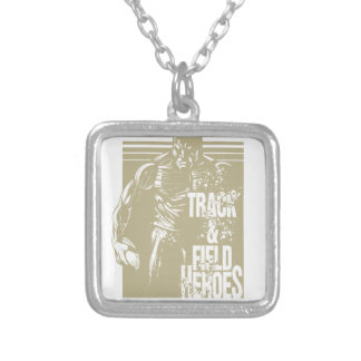 discus hero silver plated necklace
