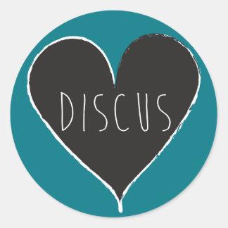 Discus Love Stickers