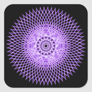 Discus Mandala Square Sticker