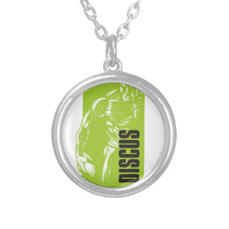 discus silver plated necklace