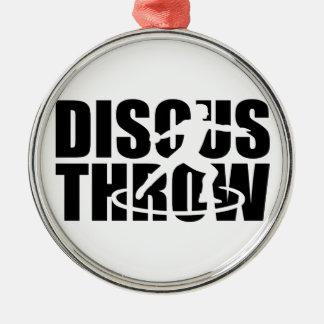 Discus throw metal ornament