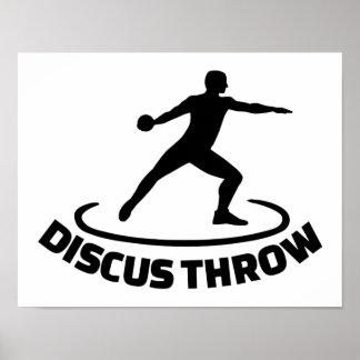 Discus throw poster