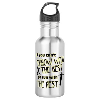 Discus Throw With The Best- Water Bottle
