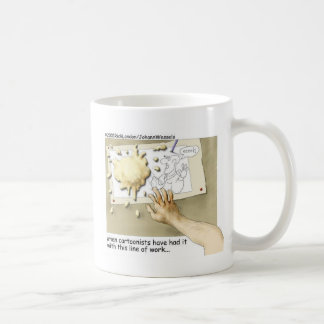 Disgruntled Cartoonist Funny Gifts & Collectibles Basic White Mug
