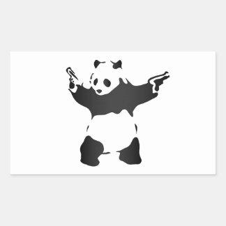 Disgruntled Panda Society logo Rectangular Sticker