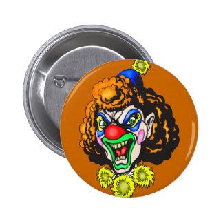 Disgusting Evil Clown Pin