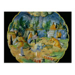 Dish depicting the gathering of manna postcard