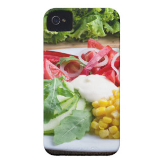 Dish from tomatoes, bell-pepper, mozzarella cheese iPhone 4 Case-Mate cases