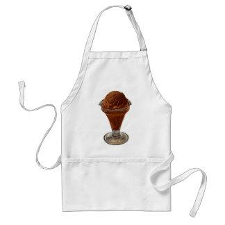 dish of chocolate ice cream adult apron