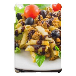 Dish of Italian pasta rigatoni with bolognese Case For The iPad Mini