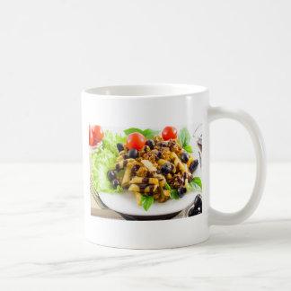 Dish of Italian pasta rigatoni with bolognese Coffee Mug