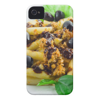 Dish of Italian pasta with bolognese sauce iPhone 4 Cases