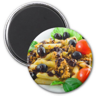 Dish of Italian pasta with bolognese sauce Magnet
