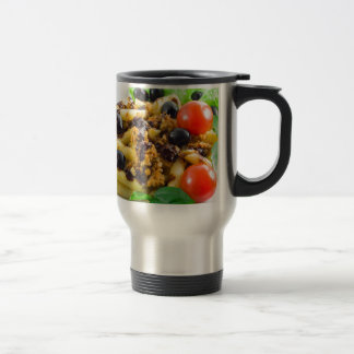Dish of Italian pasta with bolognese sauce Travel Mug