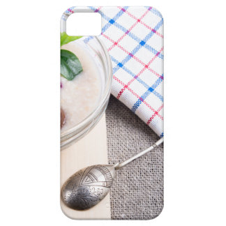 Dish of oatmeal in a bowl of glass barely there iPhone 5 case