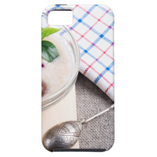 Dish of oatmeal in a bowl of glass iPhone 5 cover