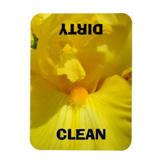 Dish Washer Clean Dirty magnets Yellow Irises