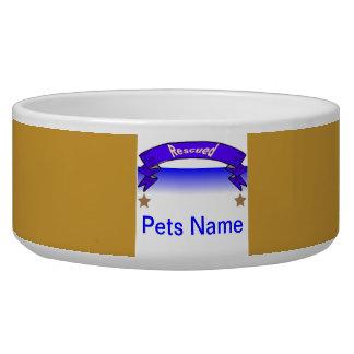 """""""Dish Washer Safe Dog Bowls"""" Rescued Pet Pride Dog Food Bowl"""