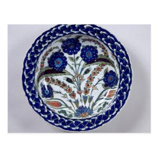 Dish with a floral decoration, Iznik Postcard