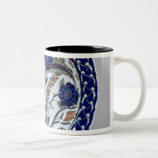 Dish with a floral decoration, Iznik Two-Tone Coffee Mug