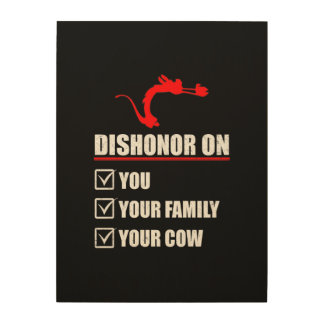 Dishonor! Wood Wall Art