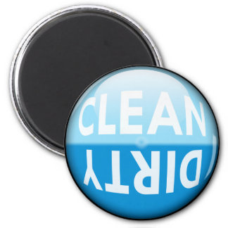 Dishwasher Clean or Dirty Sign 6 Cm Round Magnet