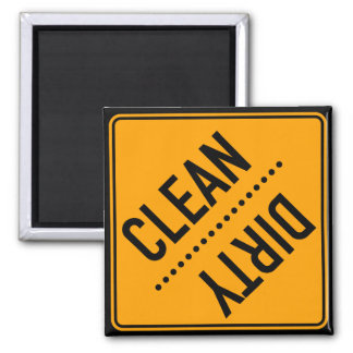 Dishwasher Clean or Dirty Square Magnet