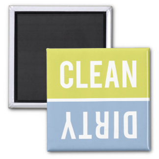 Dishwasher Magnet CLEAN | DIRTY - Green & Blue
