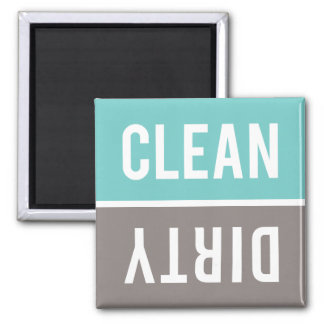 Dishwasher Magnet CLEAN | DIRTY - Turquoise & Grey