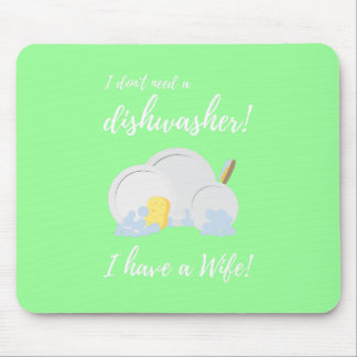 Dishwasher Women Funny Zv6ru Mouse Pad