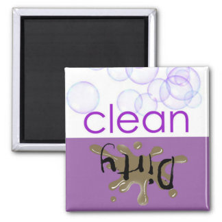 Dishwashing Machine - Is it clean or dirty? Square Magnet
