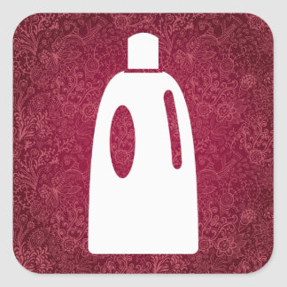 Dishwashing Softeners Symbol Square Sticker
