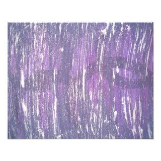Disillusioned Abstract Original | Purple Silver | Photo Print
