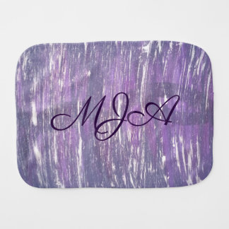 Disillusioned Baby | Monogram Purple Pink Silver | Burp Cloth