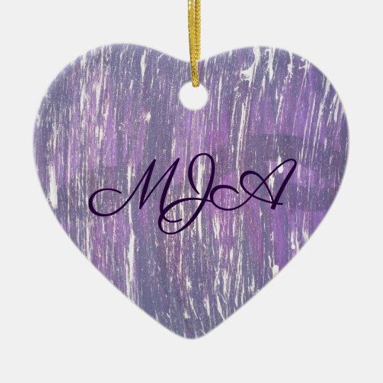 Disillusioned Holiday | Monogram Purple Silver | Ceramic Ornament