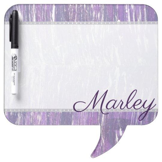 Disillusioned Kitchen | Name Plum Purple Silver | Dry Erase Board