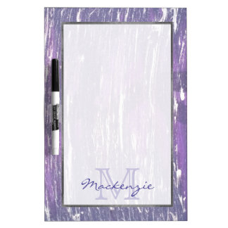 Disillusioned Kitchen | Name Violet Purple Silver Dry Erase Board