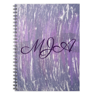 Disillusioned Office   Monogram Purple Silver   Spiral Notebook