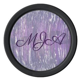 Disillusioned Play | Monogram Purple Silver | Chic Poker Chips