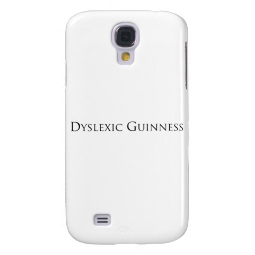 dislexic guiness- black.png galaxy s4 case