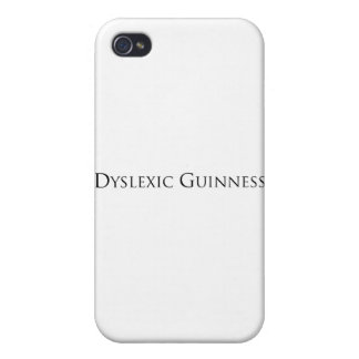 dislexic guiness- black png iPhone 4 cases