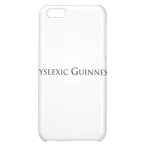 dislexic guiness- black.png iPhone 5C covers