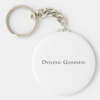dislexic guiness- black.png basic round button key ring