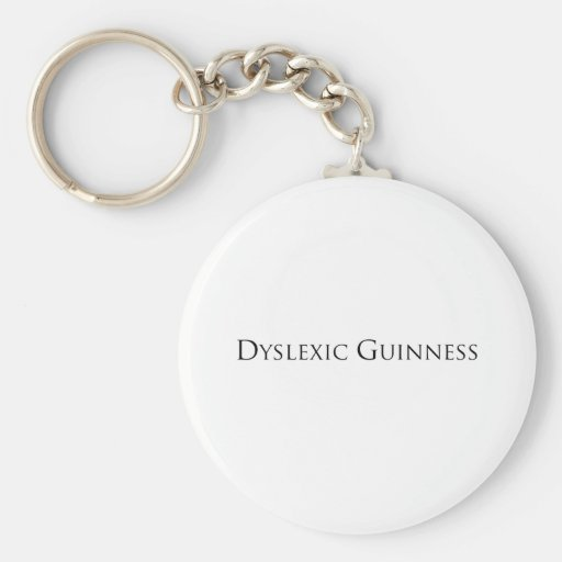 dislexic guiness- black.png keychain