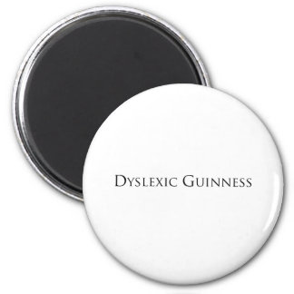 dislexic guiness- black.png 6 cm round magnet