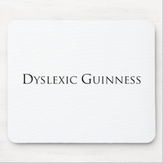 dislexic guiness- black.png mouse pad