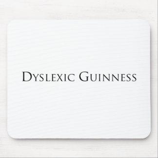 dislexic guiness- black png mousepad