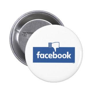 Dislike Facebook 6 Cm Round Badge