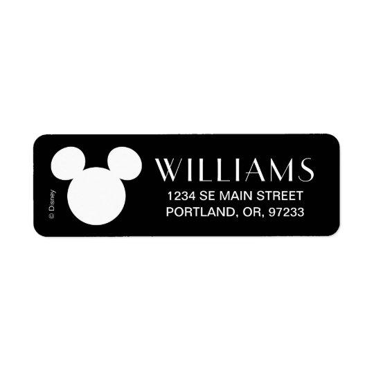 Disney Logo   White Mickey Icon Return Address Label